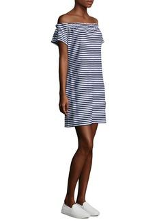 Vineyard Vines Off-The-Shoulder Striped Shift Dress