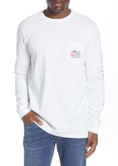 vineyard vines Oktoberfest Whale Long Sleeve Pocket Tee