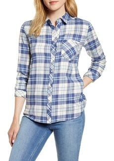 vineyard vines Pacific Plaid Relaxed Fit Stretch Cotton & Linen Shirt