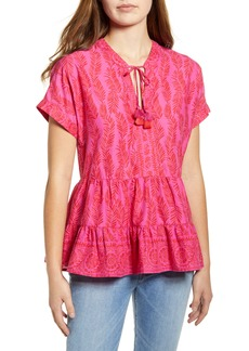 vineyard vines Painted Palm Tiered Cotton Top