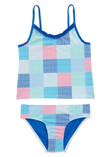 vineyard vines Patchwork Whale Two-Piece Tankini Swimsuit (Toddler Girls)
