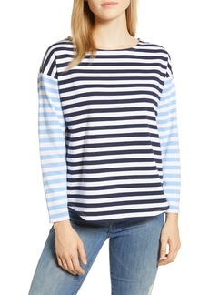 vineyard vines Pattern Mix Stripe Cotton Long Sleeve Tee