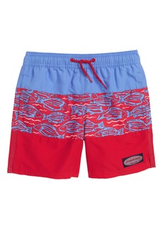 vineyard vines Pieced Fish at Sea Chappy Swim Trunks (Big Boys)