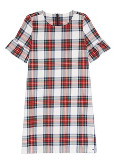 vineyard vines Plaid Bell Sleeve Party Dress (Toddler Girls, Little Girls & Big Girls)