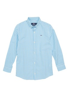 vineyard vines Point Gammon Gingham Whale Shirt (Big Boys)
