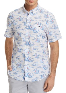 Vineyard Vines Sailboat Slim Fit Button-Down Shirt