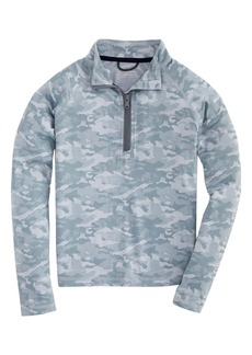 vineyard vines Sankaty Camo Half Zip Performance Pullover (Big Boy)