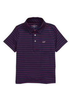 vineyard vines Sankaty Worth Stripe Performance Polo (Toddler & Little Boy)