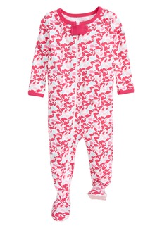 vineyard vines Scattered Whale Pima Cotton Footie (Baby Girls)
