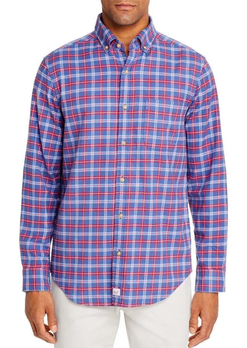Vineyard Vines Schooner Flannel Classic Fit Button-Down Shirt