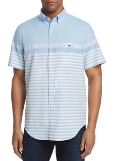 Vineyard Vines Sea Mist Striped Classic Fit Button-Down Shirt