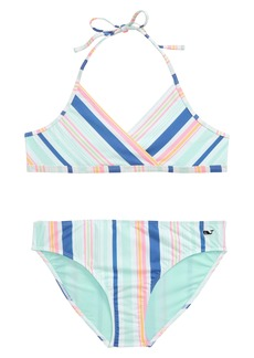 vineyard vines Sea Spray Stripe Two-Piece Swimsuit (Little Girl & Big Girl)