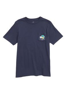 vineyard vines Seattle Whale Graphic Pocket T-Shirt (Big Boy)