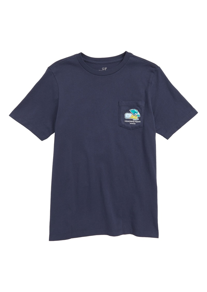 vineyard vines Seattle Whale Graphic Pocket T-Shirt (Big Boys)