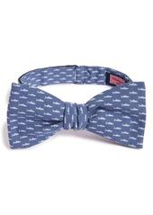 Vineyard Vines Shark Print Cotton Bow Tie