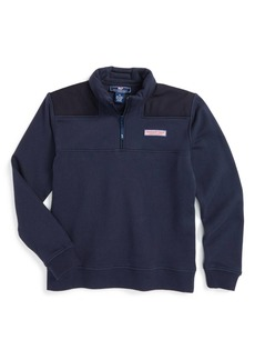 Vineyard Vines 'Shep' Quarter Zip Pullover Sweatshirt (Big Boys)
