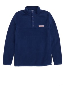 vineyard vines Shep Snap Placket Fleece Pullover (Big Boys)