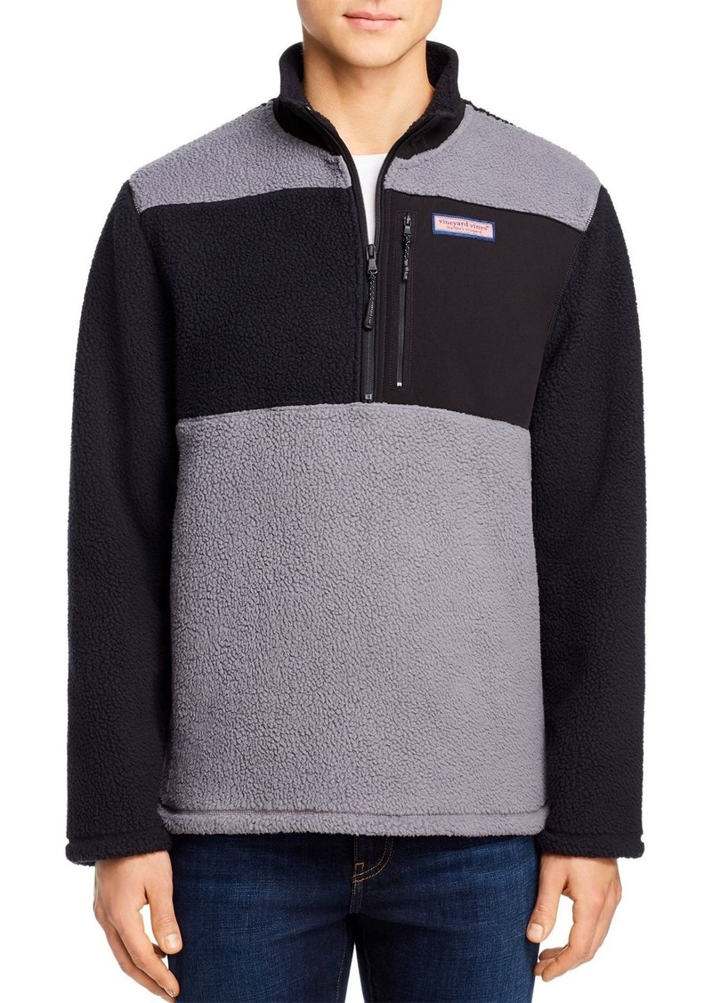 Vineyard Vines Sherpa Color-Block Half-Zip Fleece