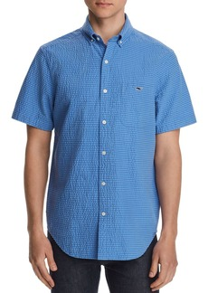 Vineyard Vines Short-Sleeve Seersucker Striped Classic Fit Button-Down Shirt