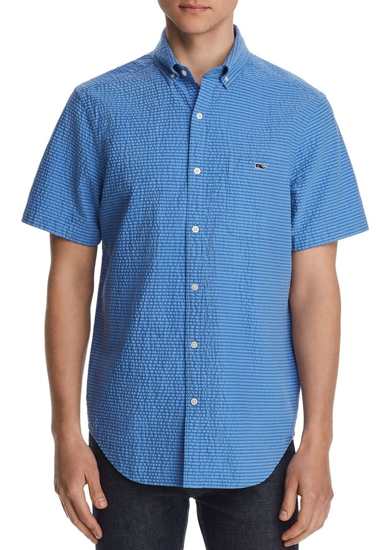 Vineyard Vines Short-Sleeve Seersucker Striped Classic Fit Button-Down Shirt