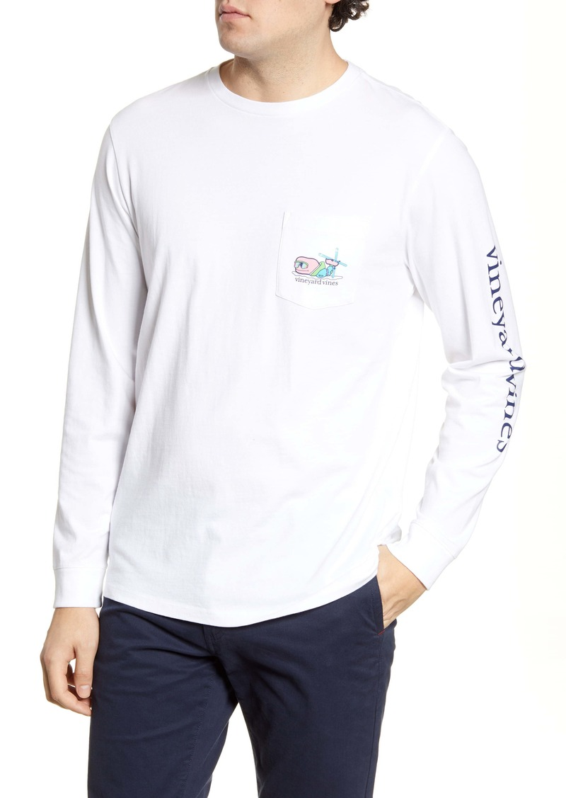vineyard vines Ski Bro Whale Long Sleeve Pocket T-Shirt