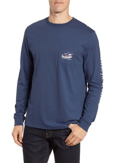 vineyard vines Ski Race Whale Long Sleeve Pocket T-Shirt