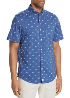 Vineyard Vines Slim-Fit Crossed Fishbone Short-Sleeve Shirt