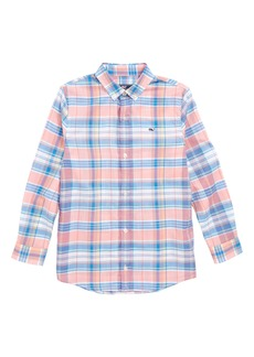 vineyard vines Smith Point Plaid Whale Shirt (Big Boys)