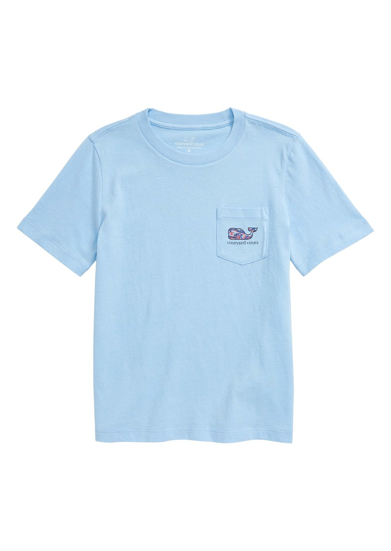 vineyard vines Speckled Camo Whale Graphic Tee (Toddler & Little Boy)