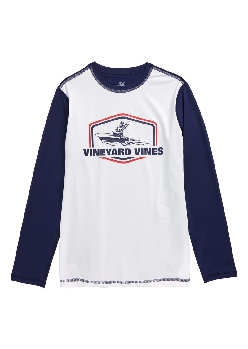 vineyard vines Sportfisher Long Sleeve Rashguard Top (Toddler Boys & Little Boys)