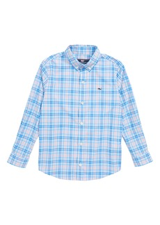 vineyard vines Stoney Hill Plaid Whale Shirt (Big Boys)