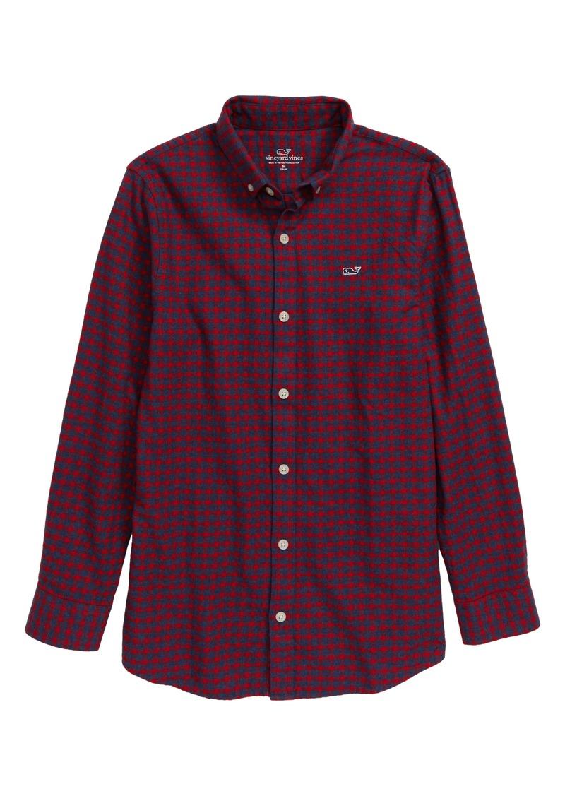vineyard vines Stretch Whale Flannel Button-Down Shirt (Toddler Boys & Little Boys)