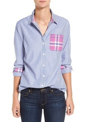 Vineyard Vines Stripe & Plaid Cotton Poplin Shirt