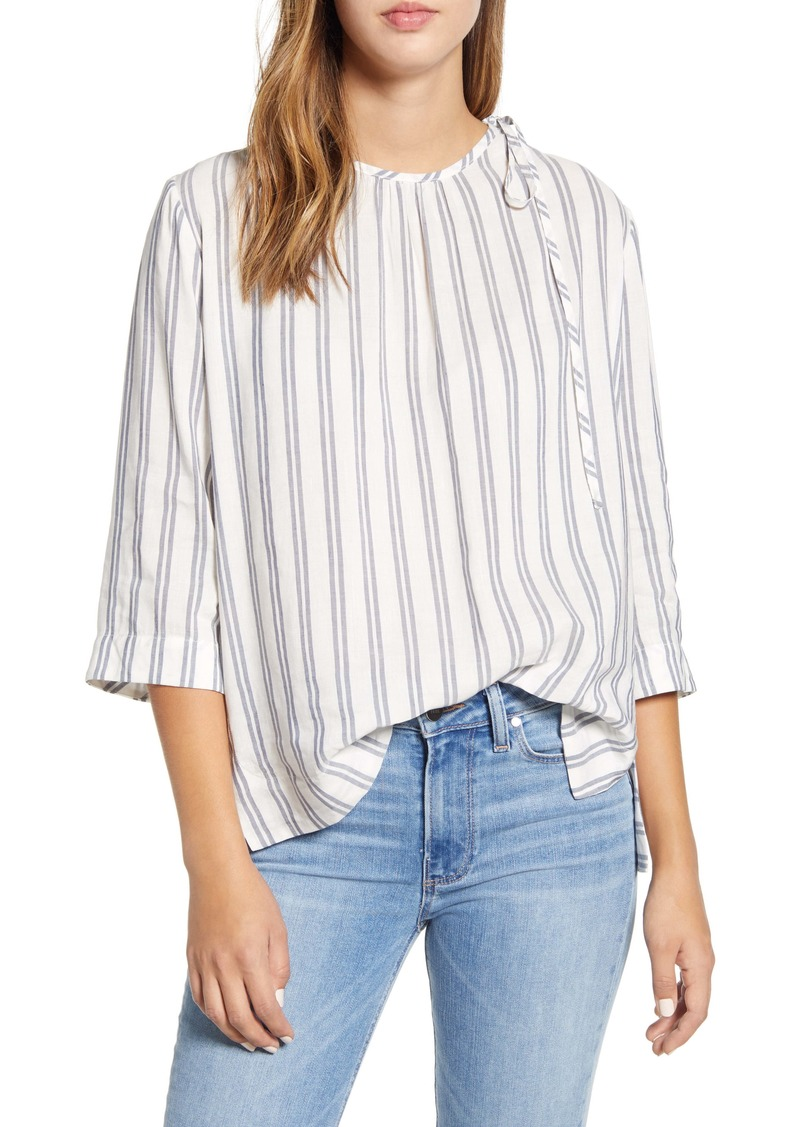 vineyard vines Stripe Flowy Tie Shoulder Top