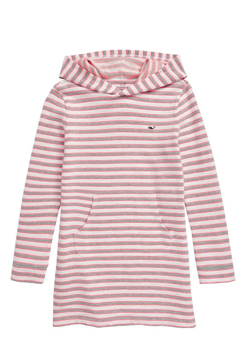 vineyard vines Stripe Long Sleeve Hooded Cover-Up Dress (Little Girls & Big Girls)