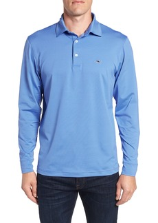 vineyard vines Stripe Long Sleeve Regular Fit Polo