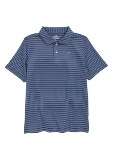 vineyard vines Stripe Polo (Big Boys)