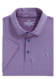 vineyard vines Stripe Sankaty Performance Polo