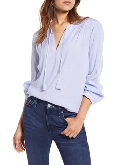 vineyard vines Stripe Split Neck Blouse