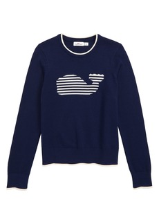 vineyard vines Stripe Whale Intarsia Sweater (Toddler Girls, Little Girls & Big Girls)