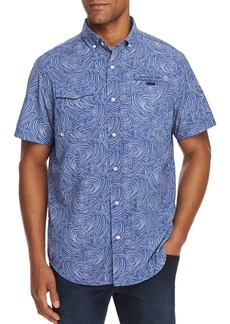 Vineyard Vines Surf No Turf Harbor Short-Sleeve Fish-Print Classic Fit Button-Down Shirt