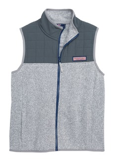 vineyard vines Sweater Fleece Quilted Vest (Big Boys)
