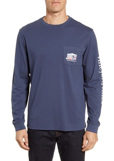vineyard vines Tailgate Whale Long Sleeve Pocket T-Shirt