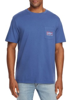 Vineyard Vines Tarpon Whale Logo Graphic Pocket Tee
