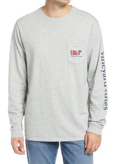 vineyard vines Textured Football Long Sleeve Pocket T-Shirt