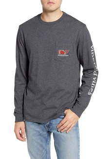 vineyard vines Textured Football Long Sleeve Pocket T-Shirt