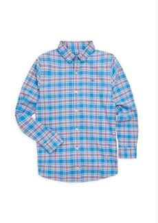 Vineyard Vines Toddler's, Little Boy's & Boy's Sandy Point Plaid Flannel Whale Shirt
