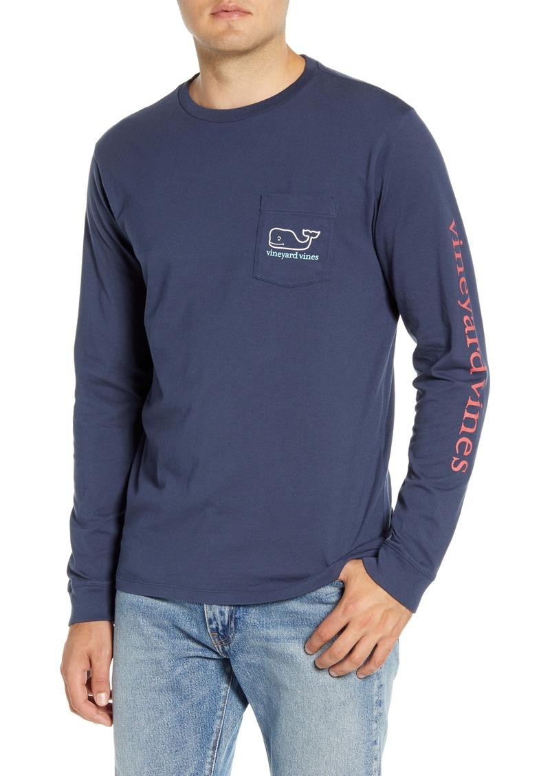 vineyard vines Tricolor Whale Pocket T-Shirt