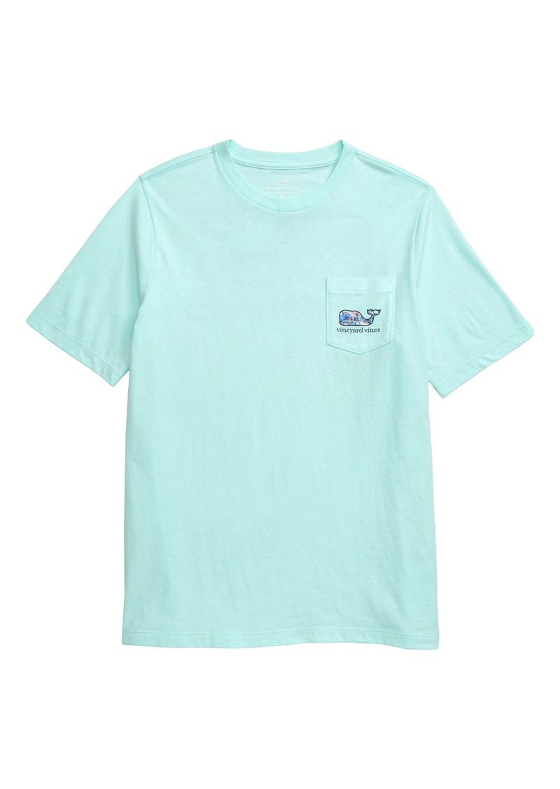 vineyard vines Tropical Boats Whale Pocket T-Shirt (Toddler Boys & Little Boys)