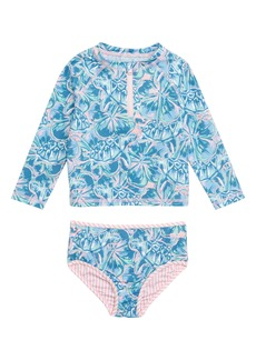 vineyard vines Tropical Turtle Two-Piece Rashguard Swimsuit (Baby)